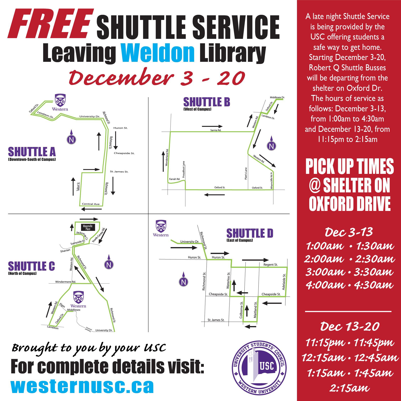 Exam Shuttle Dec 2019