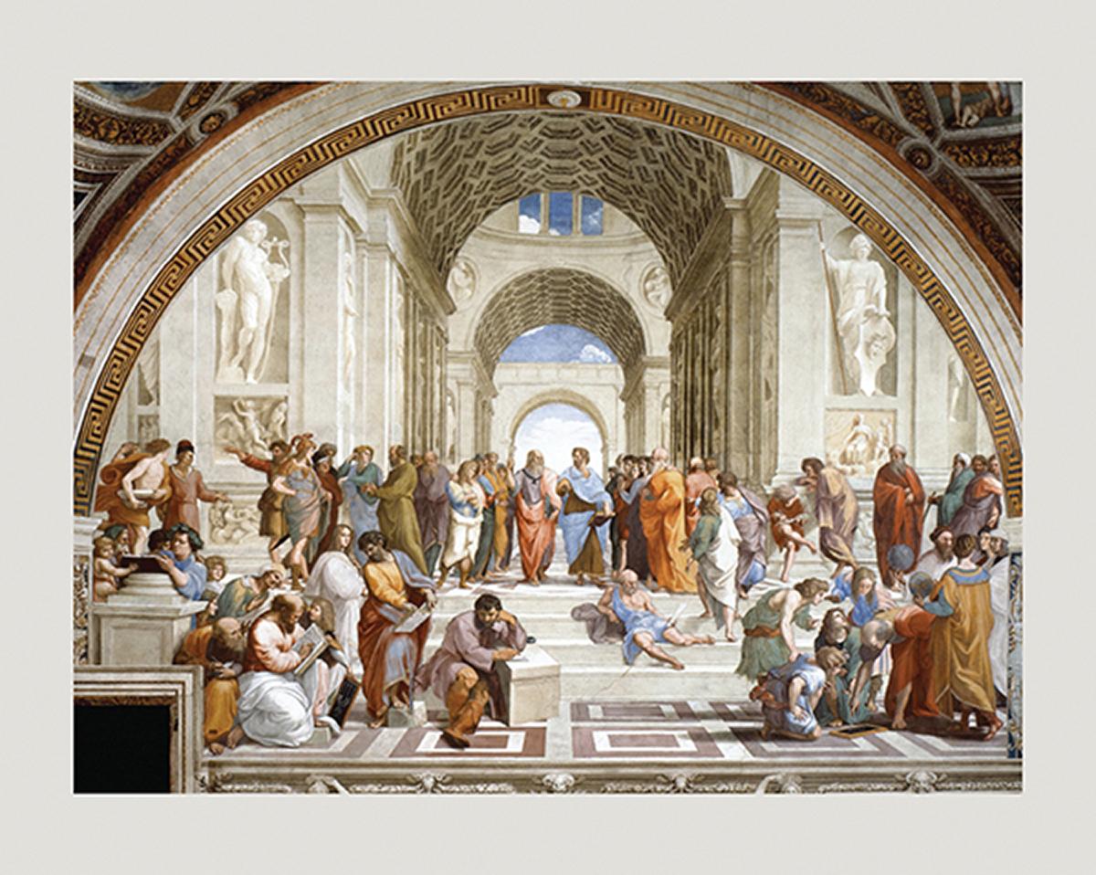 PR875 Raphael School of Athens 11x14