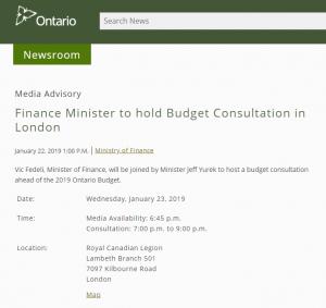 Ontario Budget Consultation Thumbnail