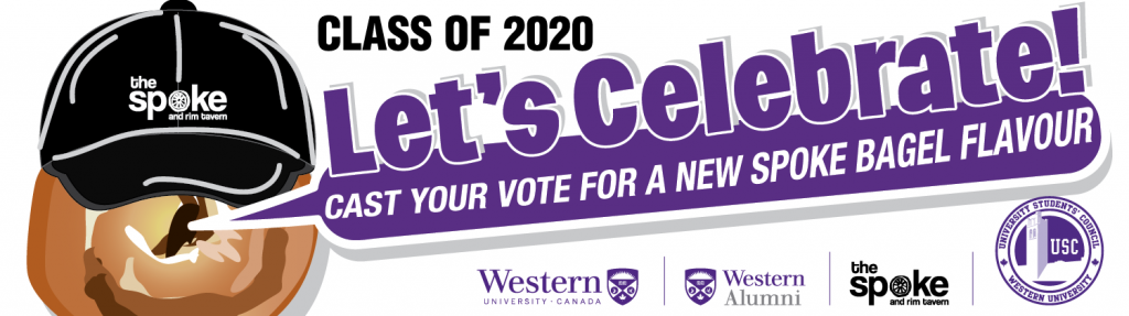 Class of 2020. Let's celebrate! Cast your vote for a new Spoke bagel flavour.